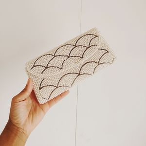 Vintage Faux Pearl Beaded Clutch